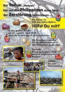 5a hilft Haiyan-Opfern